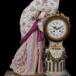 Large-size Fontainebleu porcelain clock. Auction Gallery of the Palm Beaches image.