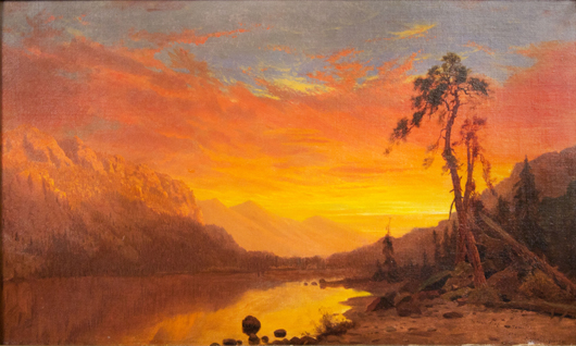 Hamilton Hamilton (American, 1847-1928), 'Sierras,' 1873, Sold amount: $74,400. Keno Auctions images.