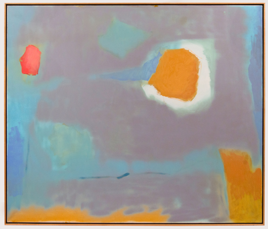 Esteban Vicente (American, 1903-2001), 'On Space,' 1987. Sold amount: $65,100. Keno Auctions images.