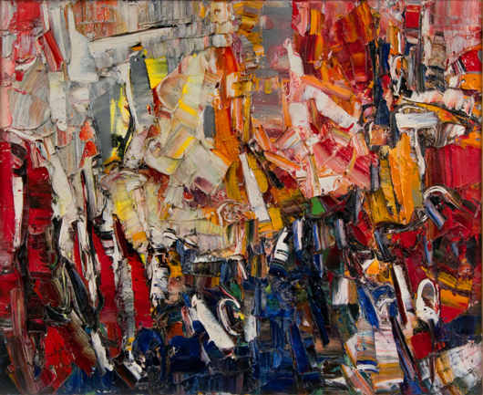 Jean-Paul Riopelle (Canadian, 1923-2002), 'Folâtre,' 1957. Sold amount: $173,600. Keno Auctions images.