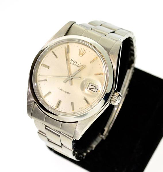 Rolex men's stainless steel watch. Government Auction image.