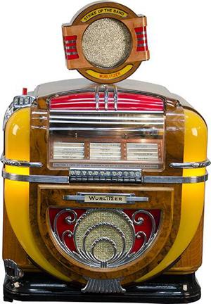 Wurlitzer Model 71 automatic phonograph jukebox. Government Auction image.