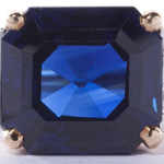 Sapphire (14.47-carat) and diamond ring that sold for $47,200. Leland Little Auctions and Estate Sales Ltd. image.