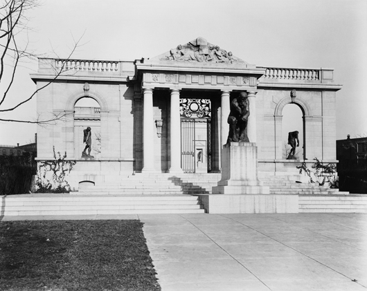 Rodin Museum, Historic Meudon Gate and 'The Thinker.' Photograph courtesy Philadelphia Museum of Art.