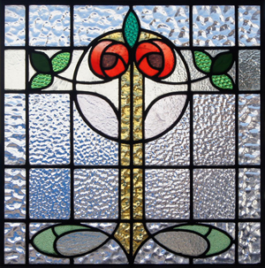 One of the antique Scottish stained glass artworks to be auctioned on June 21 to benefit PROJECT C.U.R.E.