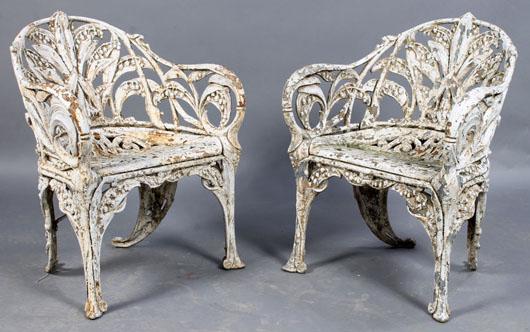 pair of antique garden chairs kamelot auctions image - Antique Garden Furniture