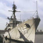 The USS Edson, shown in a 2003 photo, is named for Maj. Gen. Merritt 'Red Mike' Edson USMC (1897-1955), who was awarded the Medal or Honor while serving as commanding officer of the First Marine Raider Battalion on Guadalcanal. This file is licensed under the Creative Commons Attribution-Share Alike 2.5 Generic license.