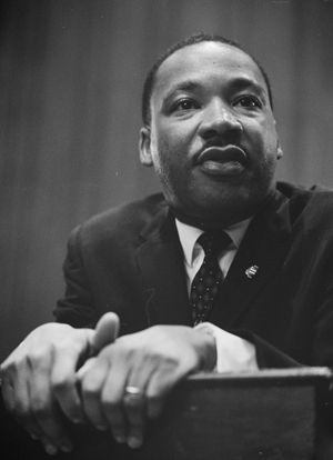 Martin Luther King, in a 1964 photo, was born in Atlanta, where the news civil rights museum will be build. Image courtesy Wikimedia Commons.