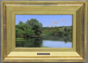 Emilio Sanchez Perrier (1855-1907), oil on board, 6 3/4 by 11 1/2 inches. Estimate: $15,000-$25,000. Slawinski Auction Co. image.
