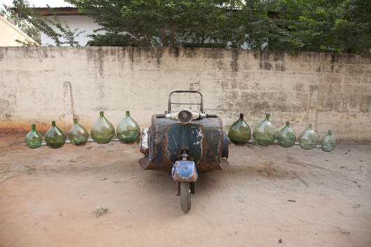 Romuald Hazoumé, 'Petrol Cargo,' 2012. Found Objects. On show at Cargoland, an exhibition of Hazoumé's work at October Gallery, London. Image courtesy Romuald Hazoumé and October Gallery.