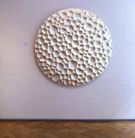 'Pollen,' a new wall sculpture by West Country artist Simon Allen, on view at Beaux Arts gallery in Cork Street until Sept. 1. Image courtesy Beaux Arts.