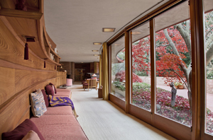 The Kenneth Laurent House designed by Frank Lloyd Wright. Image courtesy of Wright, Chicago.