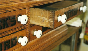 This Turn Of The 20th Century Spool Cabinet Has Finger Joints. Photo By  Fred Taylor