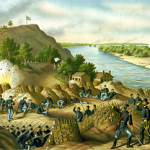 'Siege of Vicksburg,' Kurz & Allison, 1888 chromolithograph.Image courtesy Wikimedia Commons.