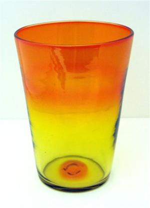 Blenko Glass Co. no. 366-S beaker vase in tangerine. Museum of American Glass image.