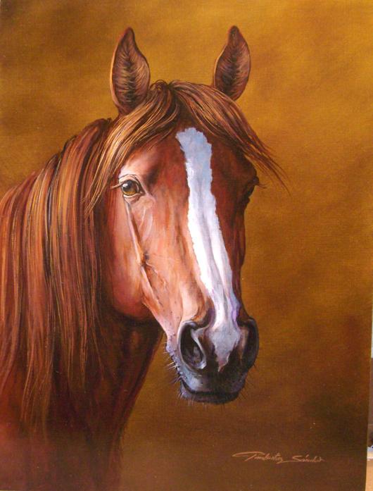 'Horse II,' Sandor Pankotai. Estimate: $1,975. European Art Gallery image.