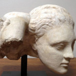2nd century AD Roman marble head of Medusa, a superb copy of a Greek original. Ancient Resource image.