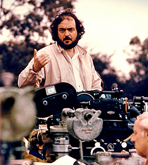 Original 1975 publicity photo taken of Stanley Kubrick (American, 1928-1999) during the filming of 'Barry Lyndon.' Public domain image. Photographer unknown.