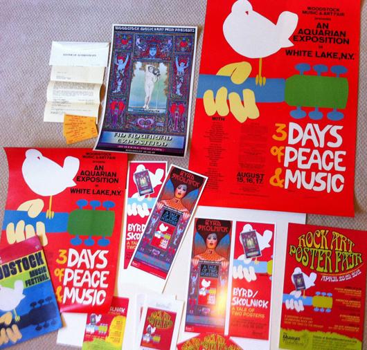 Pash's Woodstock collection. Image courtesy of Paul Pashibin.