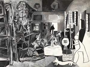 Pablo Picasso, 'The Maids of Honor (Las Meninas, after Velazques) (Les Menines vue d'ensemble, d'apres Velazquez), La Californie,' Aug.17, 1957. Oil on canvas, 194 x 260 centimeters. Museu Picasso, Barcelona, gift of the artist, 1968 © 2012 Estate of Pablo Picasso/Artists Rights Society (ARS), New York. Photo: Gassull Fotografia.
