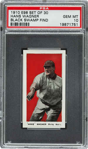 The Honus Wagner card from the rare E98 series. Heritage Auctions image.