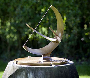 Henry Moore's (British, 1898-1986) bronze 'Working Model for Sundial,' 1965, recovered after being stolen from the grounds of The Henry Moore Foundation. Image courtesy of The Henry Moore Foundation.