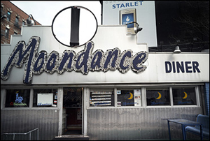 The Moondance Diner, once a New York City landmark, was moved to Wyoming in 2007. Image by Jean-Michel Clajot. This file is licensed under the Creative Commons Attribution-Share Alike 3.0 Unported, 2.5 Generic, 2.0 Generic and 1.0 Generic license.