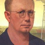 Grand Wood (1891-1942) self portrait. Image courtesy Wikimedia Commons.