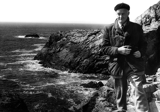 Roger Tory Peterson by the sea at Bass Rock. Image courtesy of Guernsey's.
