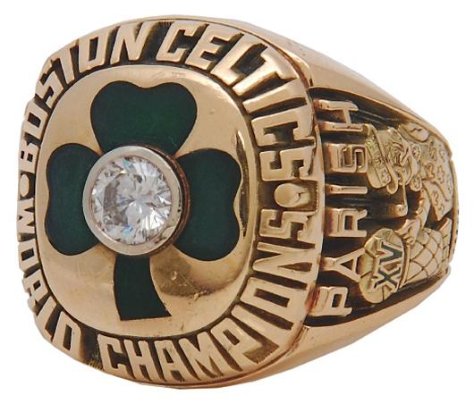 1983-84 Robert Parish Boston Celtics Championship ring (Parish LOA). Grey Flannel Auctions image.