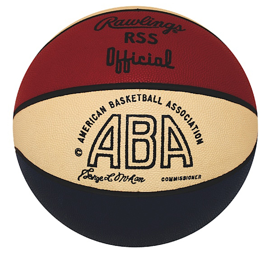 5/4/1968 inaugural season ABA Championship game-used basketball - game 7 of the 1967-68 ABA Finals, sourced from trainer. Grey Flannel Auctions image.