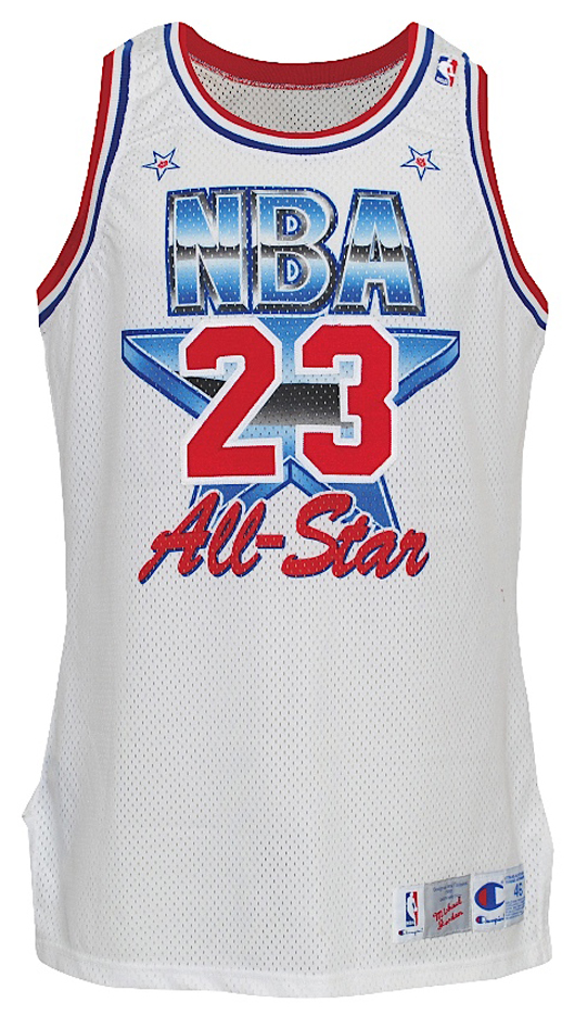 1991 Michael Jordan NBA All-Star game-used Eastern Conference jersey (NBA COA signed by David Stern). Grey Flannel Auctions image.