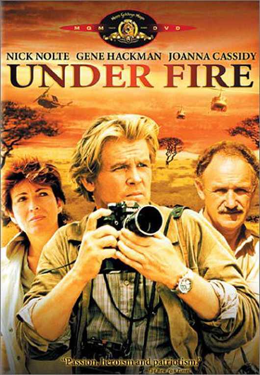 Cassidy played a radio journalist involved with Nick Nolte and Gene Hackman in Under Fire (1983).