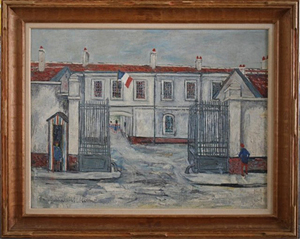Painting attributed to Maurice Utrillo. Showplace Antique + Design Center image.
