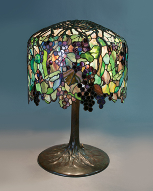 Tiffany Studios 'Grape' table lamp to be offered in Michaan's Nov. 17 auction with a $900,000-$1,200,000 estimate. Image courtesy of Michaan's.