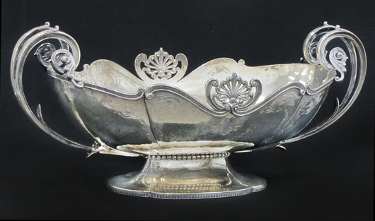 Classical Revival-style sterling silver center bowl. William Jenack Estate Appraisers and Auctioneers image.