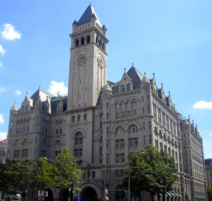 The Old Post Office Building on Pennsylvania Avenue in Washington.This file is licensed under the Creative Commons Attribution-Share Alike 3.0 Unported license.
