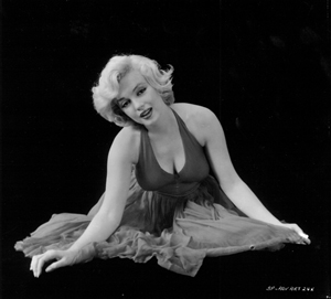Marilyn Monroe, artwork for The Prince and The Showgirl poster, courtesy The John Kobal Foundation.