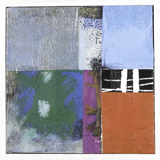 20th Century Regional Artists, Three framed works: Betsey Meyers, untitled abstract oil pastel, 2002, 12 1/2