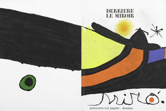 Derriere Le Miroir Group, Eleven lithograph covers and pages by artists including Miro, Kandinsky, Topias; and Saul Steinberg issue; dating from 1957-1977; including two drawings; 15