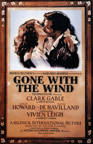Prerelease poster for the film 'Gone with the Wind.' Image courtesy Wikimedia Commons.