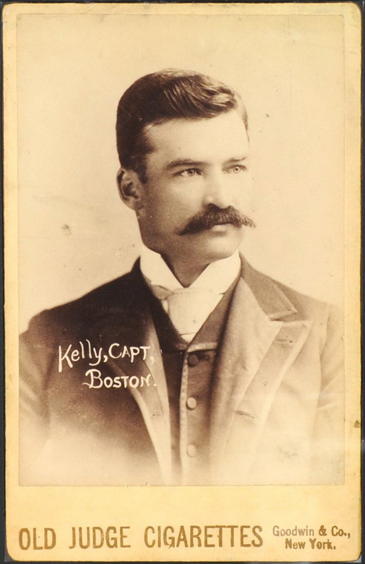 1888-89 Old Judge Cigarette N-173 Cabinet card of Michael 'King' Kelly. Image courtesy LiveAuctioneers.com Archive and Saco River Auction Co.
