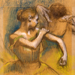 The Currier's own Degas (accession # 1973.01): 'Dancers,' c. 1890 by Edgar Degas, pastel on tan and tracing paper mounted on gray paper. Currier Museum of Art image.