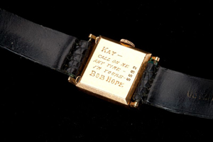 Bob Hope presented this 14k gold watch to band leader Kay Kyser. Image courtesy Leland Little Auction & Estate Sales Ltd.