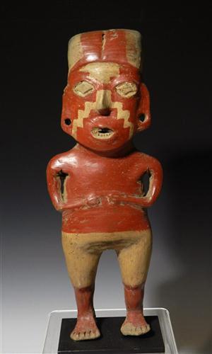 Pre-Columbian chupicuaro female, Guanajuato Valley in southern Mexico, circa 300-100 B.C. Ex-Southeby's. Estimate: $8,000-$10,000. Antiquities Saleroom.com image.