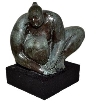 Francisco Zuniga [1912-1928] bronze sculpture. Roland Antiques image.