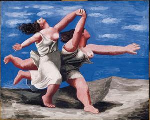 Pablo Picasso, Deux femmes courant sur la plage (La course), 1922 circa, gouache su compensato, cm 32,5 x 41,1. Masterpiece from the Musée National Picasso Paris. © Succession Picasso by SIAE 2012