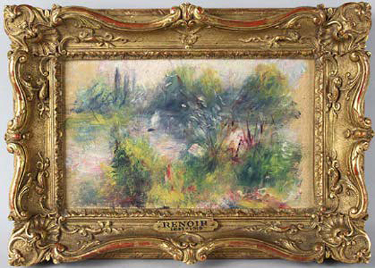 Pierre-Auguste Renoir (French, 1841-1919), 'Paysage Bords de Seine.' Image source: Wikicollecting.org.