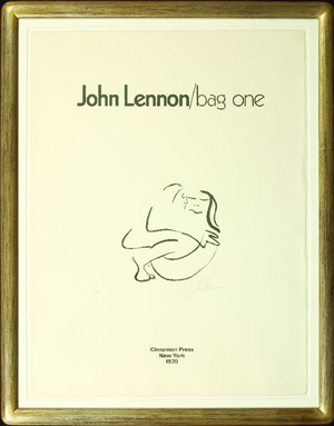 John Lennon's most famous art series is 'bag one,' a collection of lithographs published in 1970 to celebrate his wedding to Yoko Ono. The edition was limited to 300, with each lithograph pencil-signed and numbered by Lennon. Image courtesy of LiveAuctioneers.com Archive and The Fame Bureau.