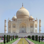 The Taj Mahal in Agra, India. Photo by Muhammad Mahdi Karim, published under the terms of the GNU Free Documentation License, Version 1.2.